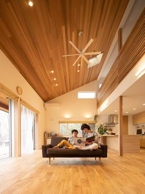 大きな屋根のチムニーハウス